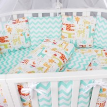 Комплект постельного белья AmaroBaby Жирафики Premium 19 предметов