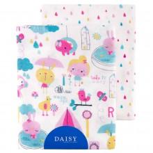 Пеленки Daisy Фланель 90х145 см Девочки (2 шт.)