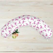 Подушка для кормления AmaroBaby Фламинго 170х25 см