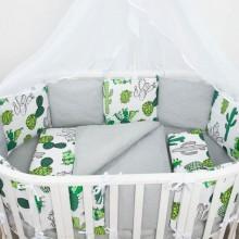 Комплект постельного белья AmaroBaby Кактусы Premium 19 предметов