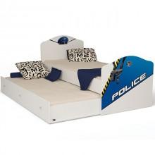 Подростковая кроватка ABC-King Police классика для двоих детей