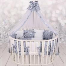 Комплект в кроватку для новорожденного AmaroBaby EXCLUSIVE Soft Collection  101 Барашек