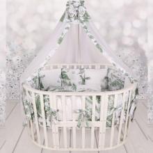 Комплект в кроватку для новорожденного AmaroBaby EXCLUSIVE Soft Collection  Папоротники