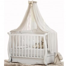 Кроватка для новорожденного Baby Italia Andrea VIP Pelle (с эко-кожей) Маятник. Характеристики.