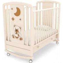 Детская кроватка качалка Angela Bella Жаклин Мишка с соской