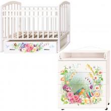 Детская комната Антел Акварель Кровать Алита-4 + Комод Ульяна-2. Характеристики.