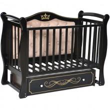 Детская кроватка с маятником Антел Julia 111 с мягкой спинкой