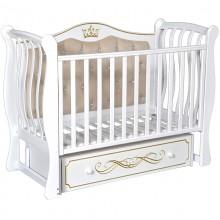 Кроватка для новорожденного Антел Luiza 333 с мягкой спинкой
