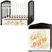 Детская комната Антел Медвежата Кровать Алита-4 + Комод Ульяна-2. Характеристики.