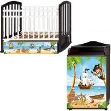 Детская комната Антел Пираты Кровать Алита-4 + Комод Ульяна-1. Характеристики.
