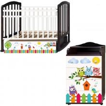 Детская комната Антел Поющие совята Кровать Алита-4 + Комод Ульяна-1. Характеристики.