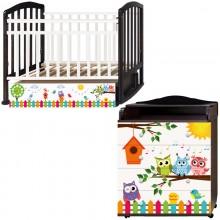 Детская комната Антел Поющие совята Кровать Алита-4 + Комод Ульяна-2. Характеристики.