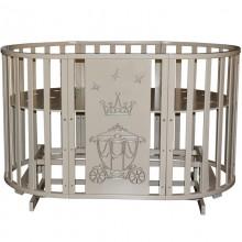 Овальная кроватка Антел Северянка-3 Корона 6в1