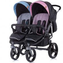 Детская прогулочная коляска для двойни Chipolino Twix