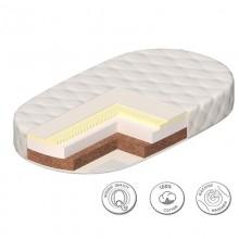 Матрас овальный Ceba-Baby Comfort Plus 125х65 для кроватки Паулина