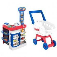 Игрушки HTI Супермаркет c тележкой 17 предметов. Характеристики.