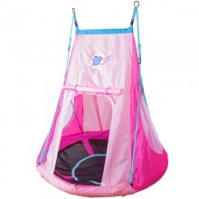 Качели детские Hudora Гнездо с палаткой 110см