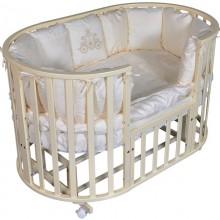 Овальная кроватка Кедр Sofia 2