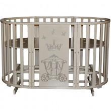 Овальная кроватка Кедр Sofia 2 Crown