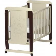 Кроватка для новорожденного Kitelli Micio колесо-качалка. Характеристики.