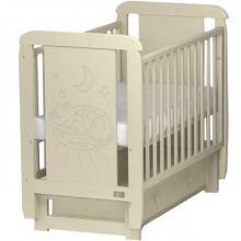 Кроватка для новорожденного Kitelli Micio поперечный маятник. Характеристики.