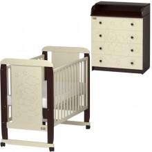 Детская комната Kitelli Orsetto кроватка-качалка и комод. Характеристики.