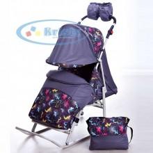 Санки-коляска Kristy Luxe Comfort. Характеристики.