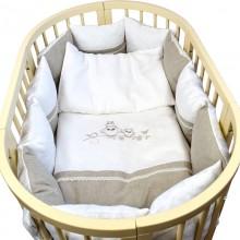 Комплект постельного белья Labeillebaby Льняная сказка 6 предметов