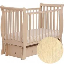 Детская кроватка Лель Лаванда продольный маятник