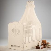 Кроватка для новорожденного Островок уюта Птенчики поперечный маятник. Характеристики.