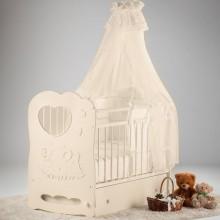 Кроватка для новорожденного Островок уюта Слоненок поперечный маятник. Характеристики.