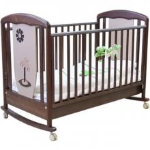 Кроватка для новорожденного Papaloni Vitalia качалка. Характеристики.