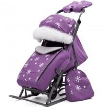 Санки-коляска Pikate Снежинки. Характеристики.