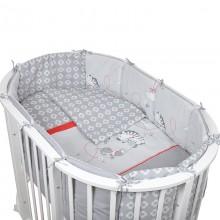 Комплект для овальной кроватки Pituso Зебра 6 предметов бязь