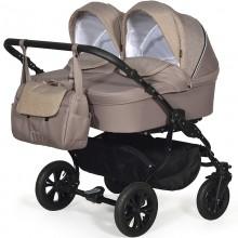 Коляска для новорожденных для двойни Indigo Charlotte Duo