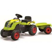 Педальная машина Smoby Трактор XL с прицепом