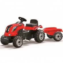 Педальная машина Smoby Трактор XL с прицепом. Характеристики.