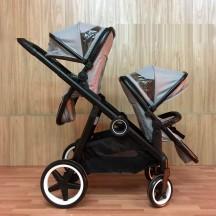 статья: Новая коляска тандэм для двойни